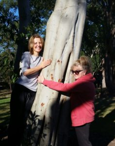 Sharing energy from the tress in Heritage Park after class
