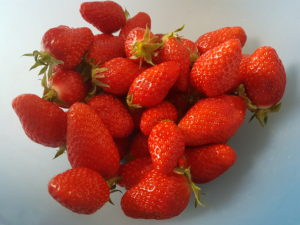 Strawberries in summer