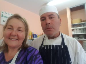 What a treat to be working in the kitchen with Master Chef Robert Rayney