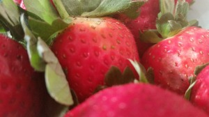 Fresh  Ripe Strawberries packed full of Vitamin C, fibre, antioxidants and manganese
