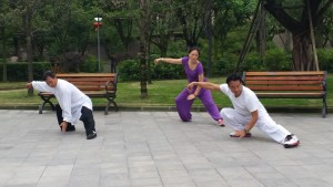 Small private classes in the parks everywhere all over china