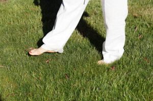 Increase circulation to the body by walking barefoot first thing in the morning on grass when the dew has not yet evaporated