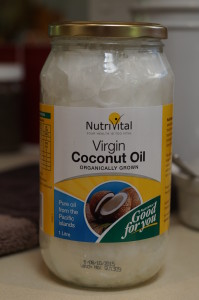 Organic coconut oil - use every day in your hair on your skin and cook with it.