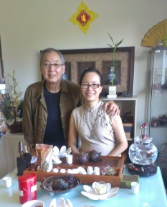 Master John and Kay serving Traditional Chinese Tea Ceremony
