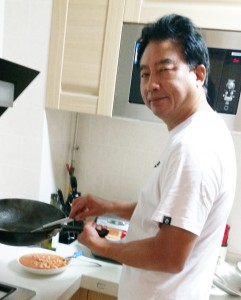 Master Zhao cooking up a Chinese feast