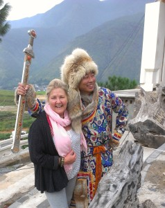 Master Zhao and Margie Hare on the Snowy Mountain in China - Stillness of a mountain Peak