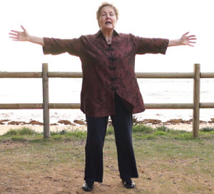 Practice Shibashi Qigong early in the morning on the beach or under the tress in the park